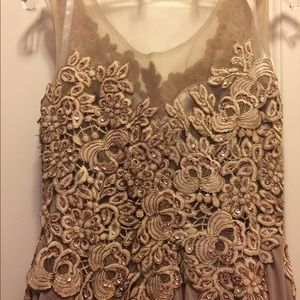 Cinderella Dresses - Taupe and Blush Formal Dress